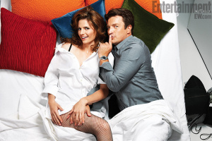 Castle stars Stana Katic and Nathan Fillion. Also, massive amounts of sexual tension.