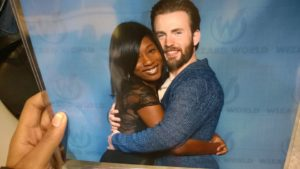 Me and Chris Evans aka Captain America